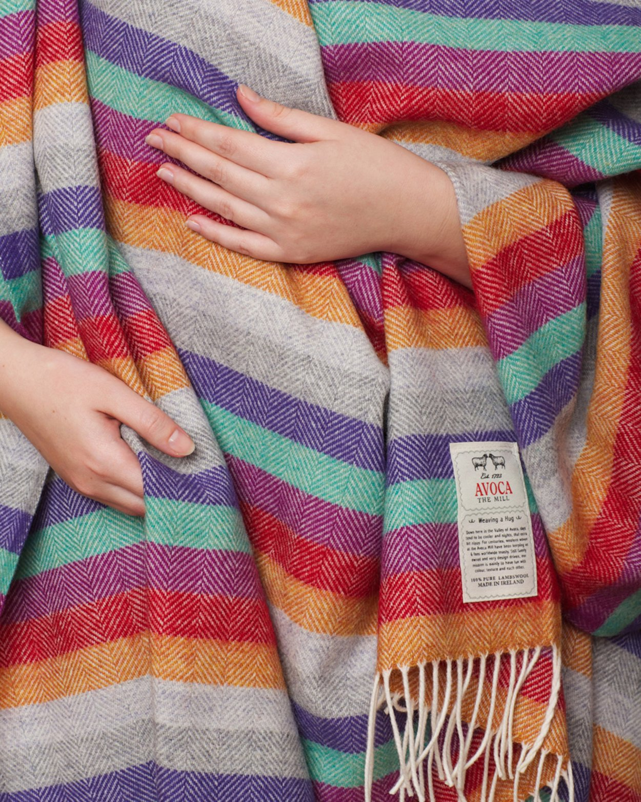 Electric Stripe Lambswool Throw