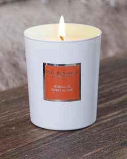 Mimosa and Sweet Amber Scented Candle by Max Benjamin