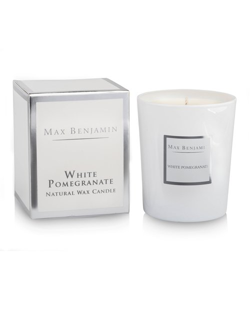 White Pomegranate Scented Candle by Max Benjamin