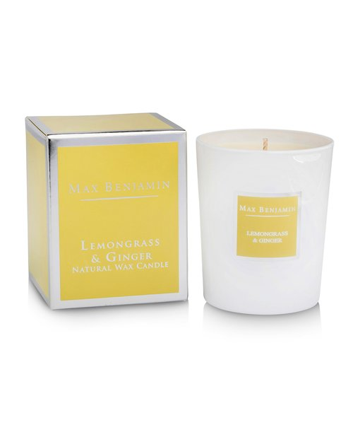 Lemongrass and Ginger Scented Candle by Max Benjamin