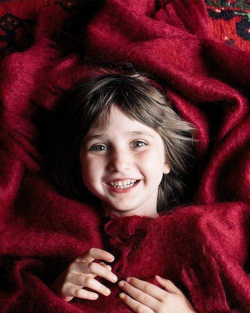 Ruby Mohair Throw