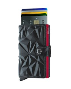 Secrid Wallet and Card Protector in Prism Black and Red