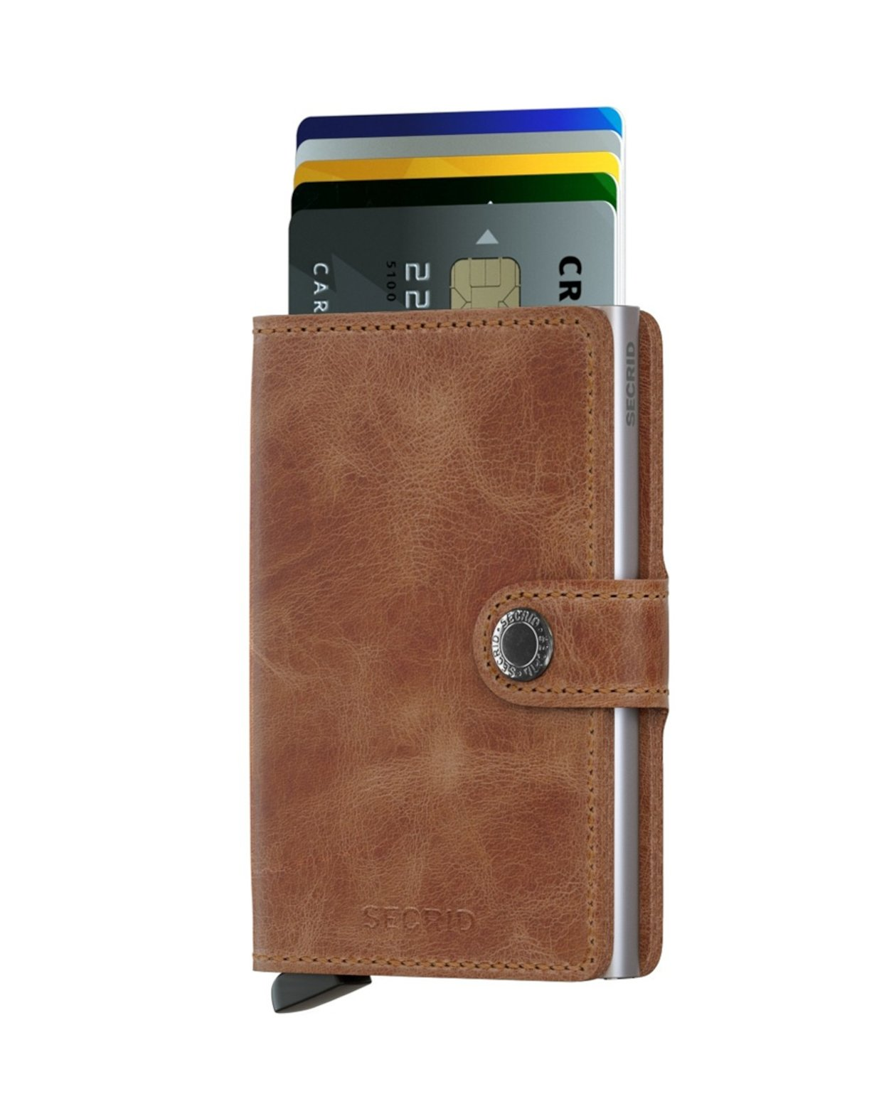 Secrid Wallet and Card Protector in Vintage Cognac Rust