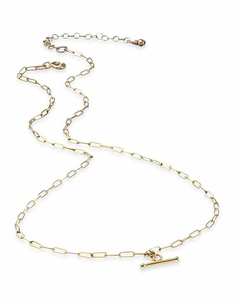 14kt Gold-Fill Delicate Chain T-Bar