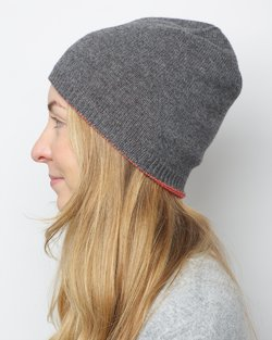 Cashmere Blend Top Stripe Hat