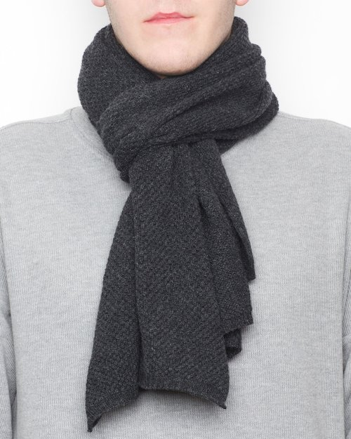 Yak & Cashmere Honeycomb Scarf