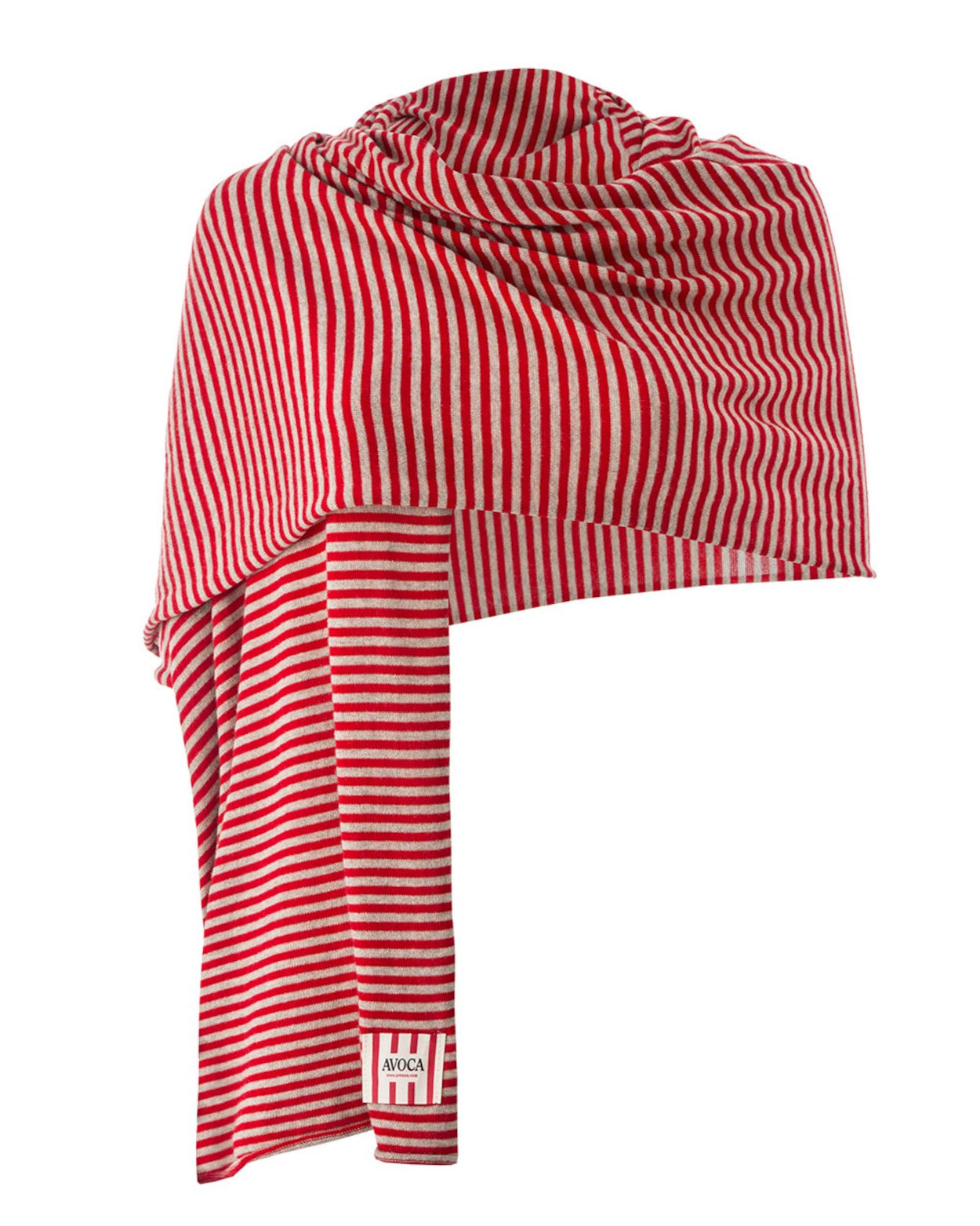 Summer Park Scarf in Red & Beige