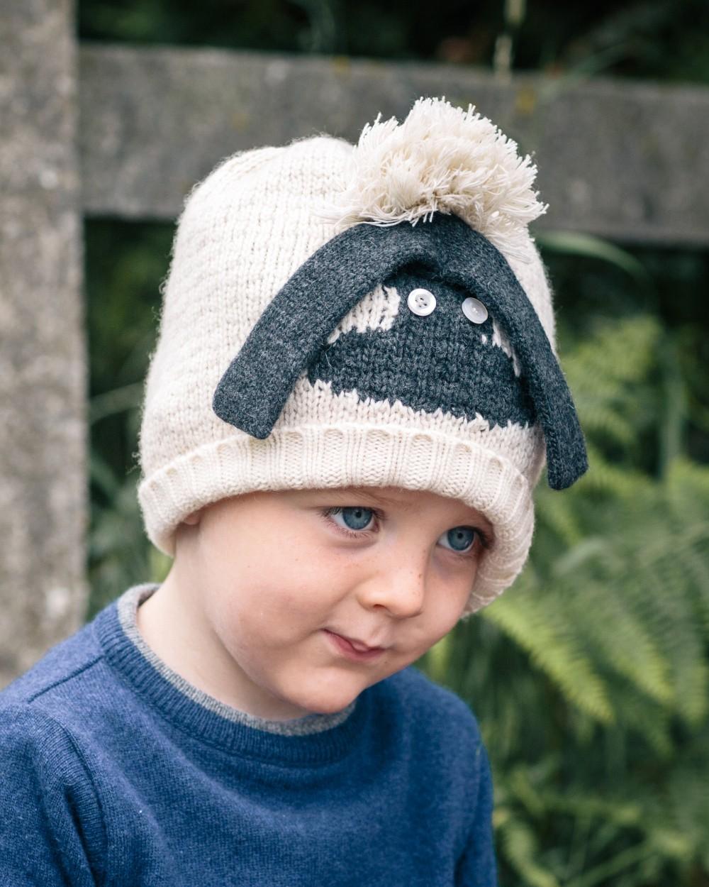 Knitted Sheep Beanie - Kids  a4396093efd