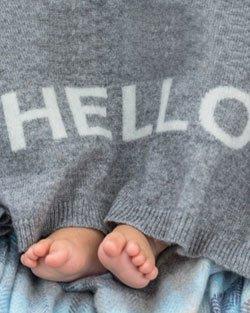 Cashmere 'Hello' Baby Blanket