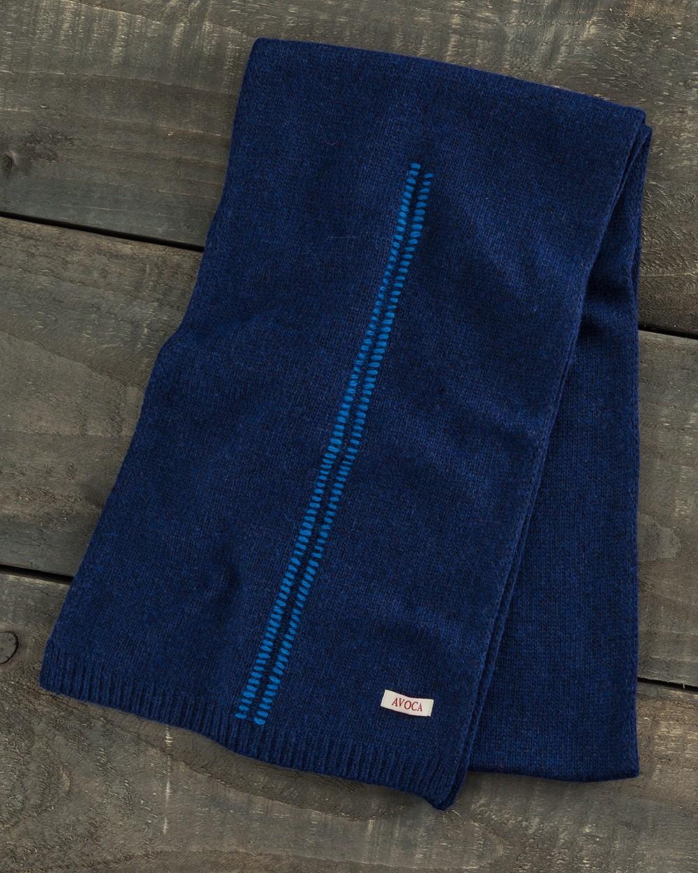 Blanket Stitch Scarf in Navy