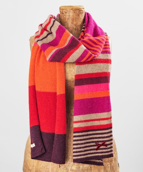 Ruby Stripe Scarf