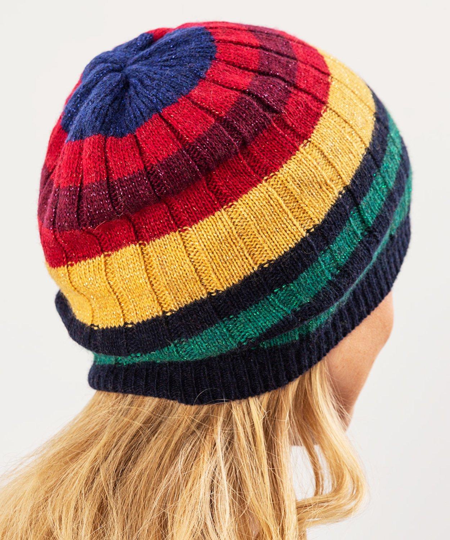 Cashmere Blend 70s Stripe Hat