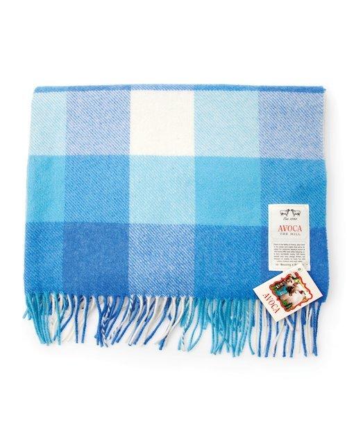 Baby Bunting Lambswool Blanket in Blue