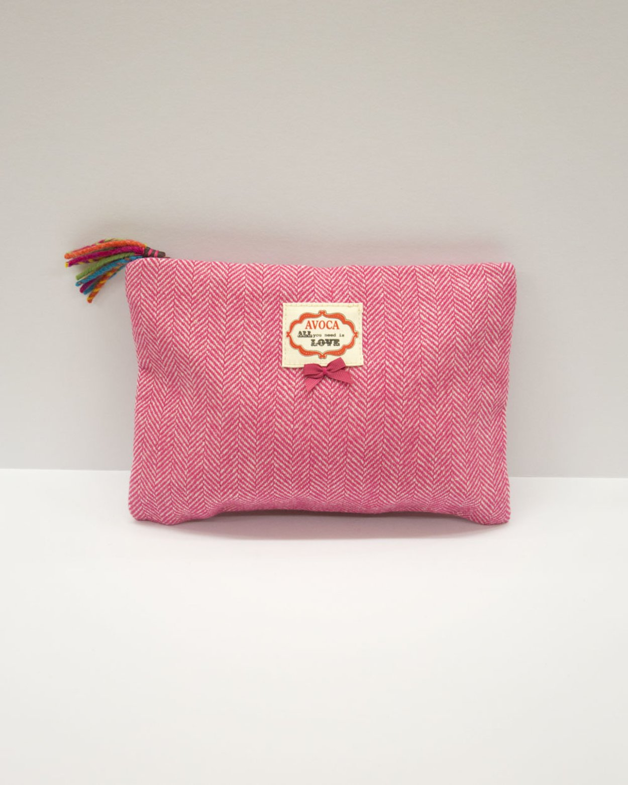 Herringbone Pouch in Pink