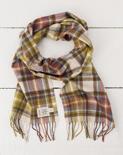 Autumn Check Merino Scarf