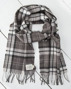 Natural Check Merino Scarf