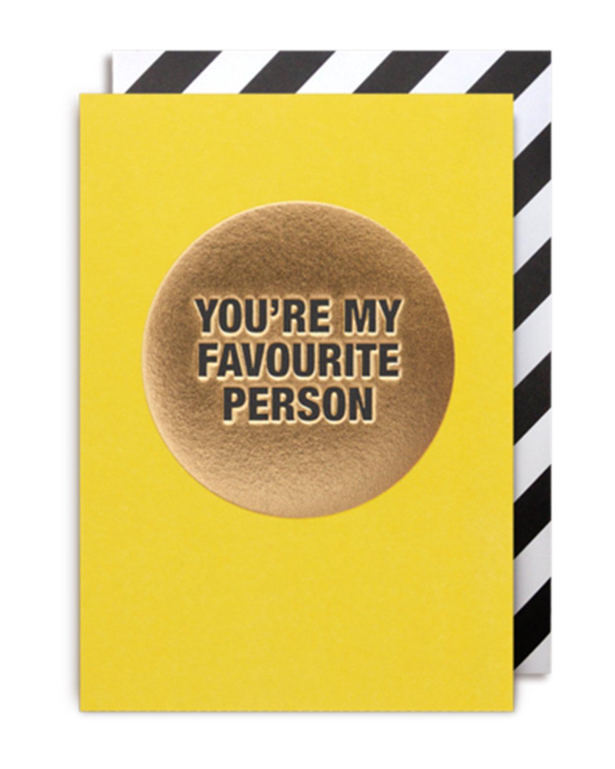 Favourite Person Card