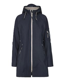 Ilse Jacobsen Raincoat in Indigo Atmosphere