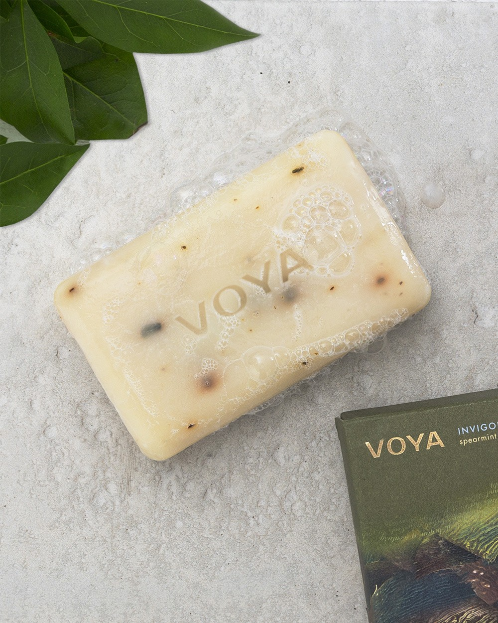 Voya Seaweed Soap - Spearmint & Rosemary