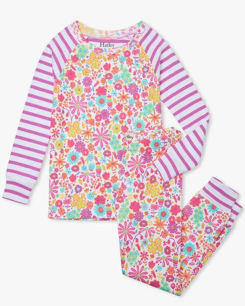 Mini Flowers Organic Cotton Pajama Set