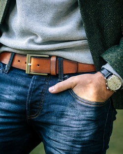 Saddler Brown Leather Belt