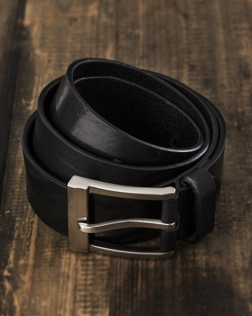 Saddler Black Leather Belt