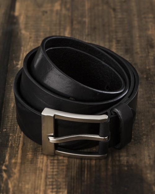 Saddler Black Leather Belt