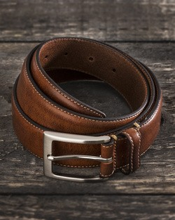 Saddler Brown Cow Leather Belt