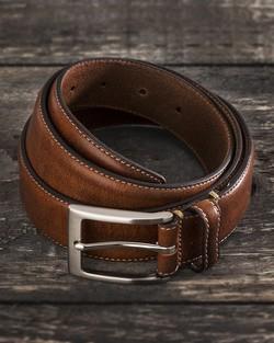 Saddler Brown Cow Leather Belt