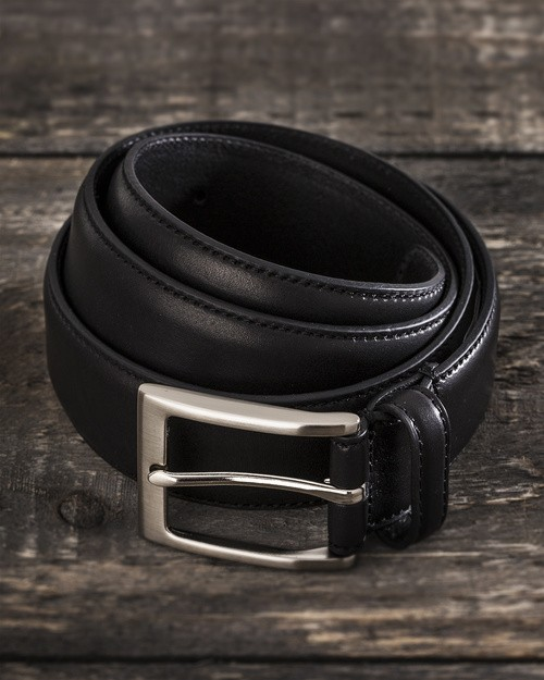 Saddler Black Cow Leather Belt