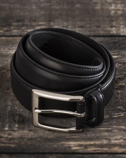 Saddler Black Cow Leather Belt