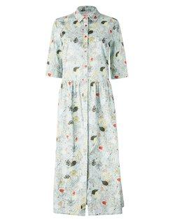 Leaf Print Shirt Dress