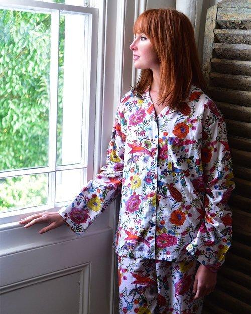 Cotton White Peacock Pyjamas