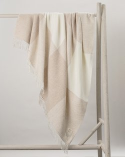 Stella Cashmere Throw in Cream Check