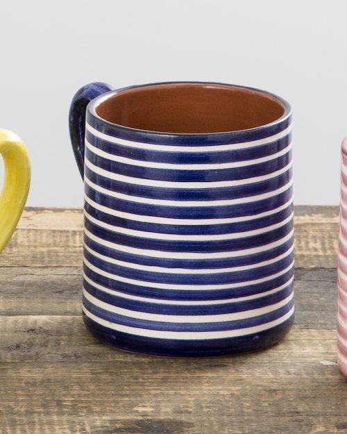 Striped Terracotta Mug