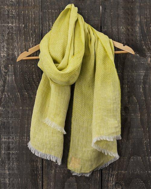 Art Linen Multi Weave Scarf in Yellow