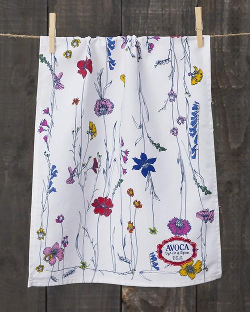 Tall Floral Tea Towel
