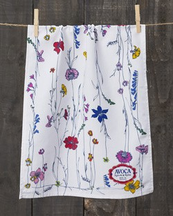 Tall Floral Tea Towel