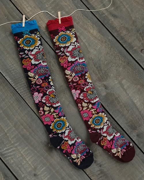 Tapestry Over the Knee Socks