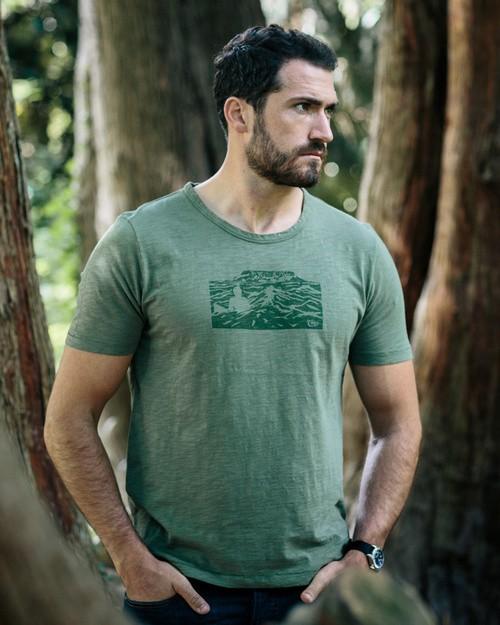 Tonn Organic Cotton Benbulben T-Shirt - Army Green