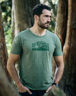 Tonn Organic Cotton Benbulben T-Shirt - Army Green