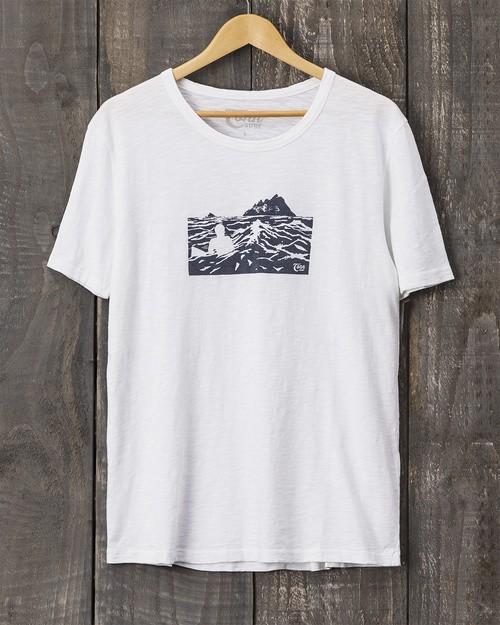 Tonn Organic Cotton Skellig Islands T Shirt White Mens