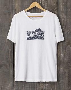 Tonn Organic Cotton Skellig Islands T-Shirt - White