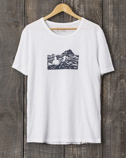 Tonn Organic Cotton Skellig Islands T-Shirt - White