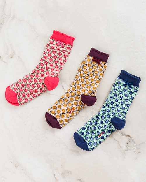 Flower Trellis Ankle Socks