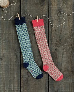 Flower Trellis Knee Socks
