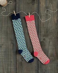 Flower Trellis Knee Socks