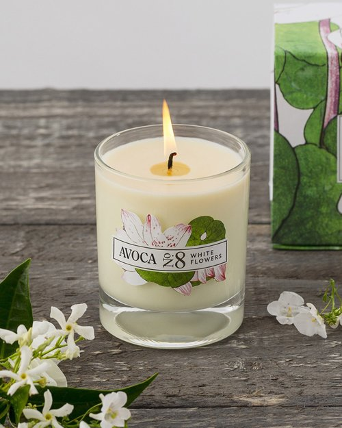 White Flowers Scented Candle