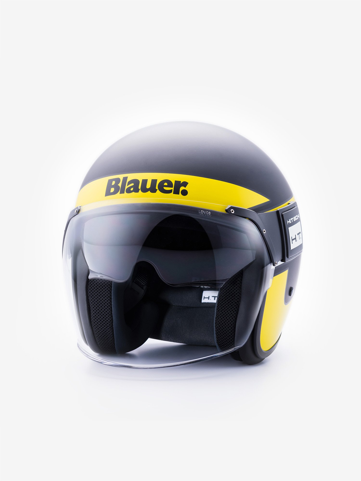 Blauer - POD STRIPES DOUBLE VISOR - Black Matt / Yellow Fluo - Blauer