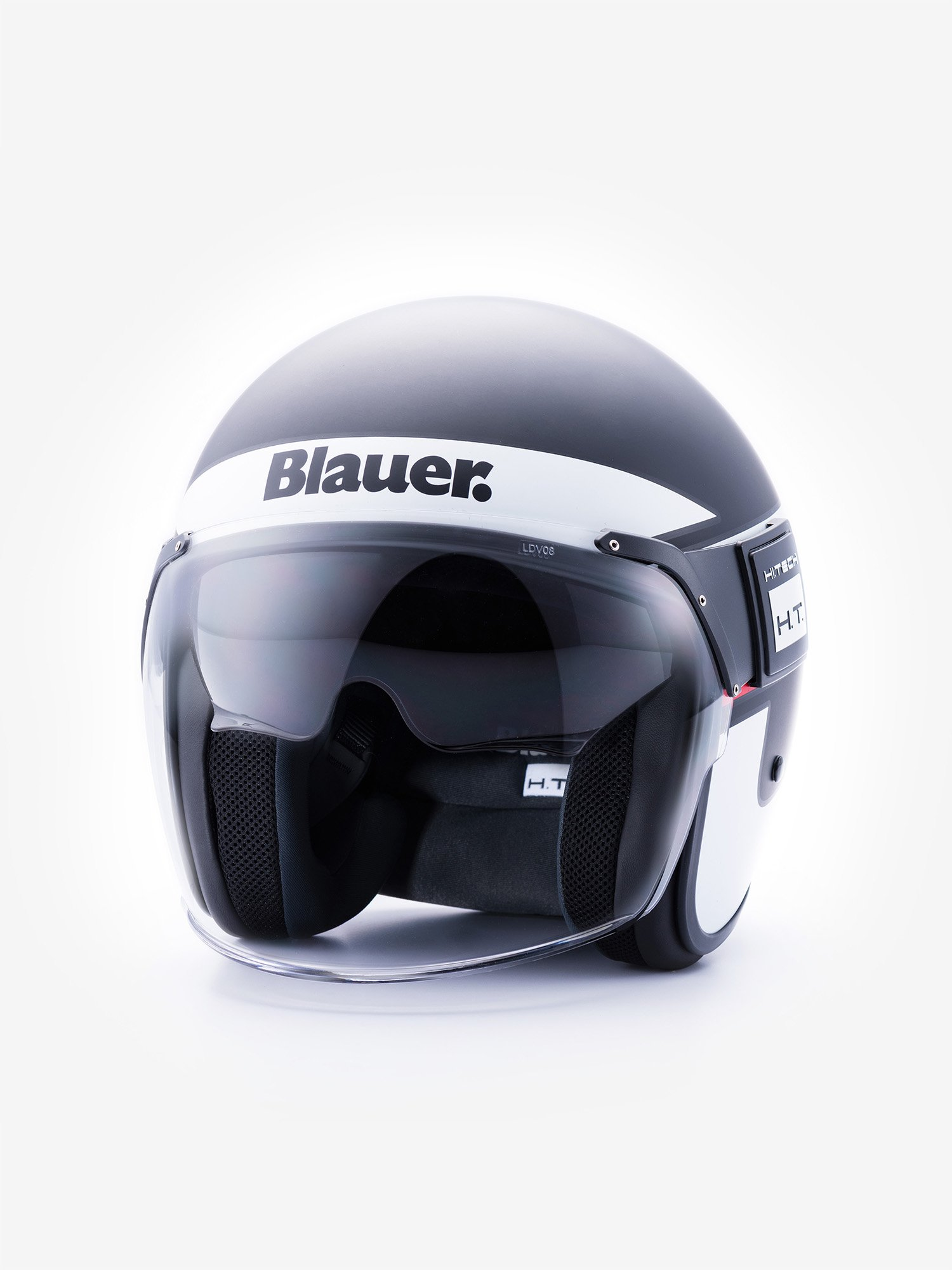 Blauer - POD STRIPES DOUBLE VISOR - Black Matt / Red - Blauer